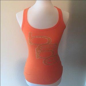 Orange BEBE logo tank top! Studded tank top small